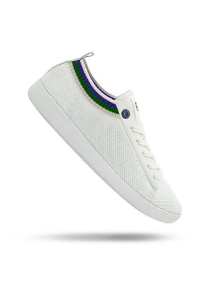 Vespa Shoes Pop The White Universe Green